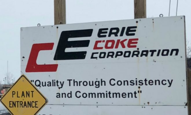 The entrance to Erie Coke.