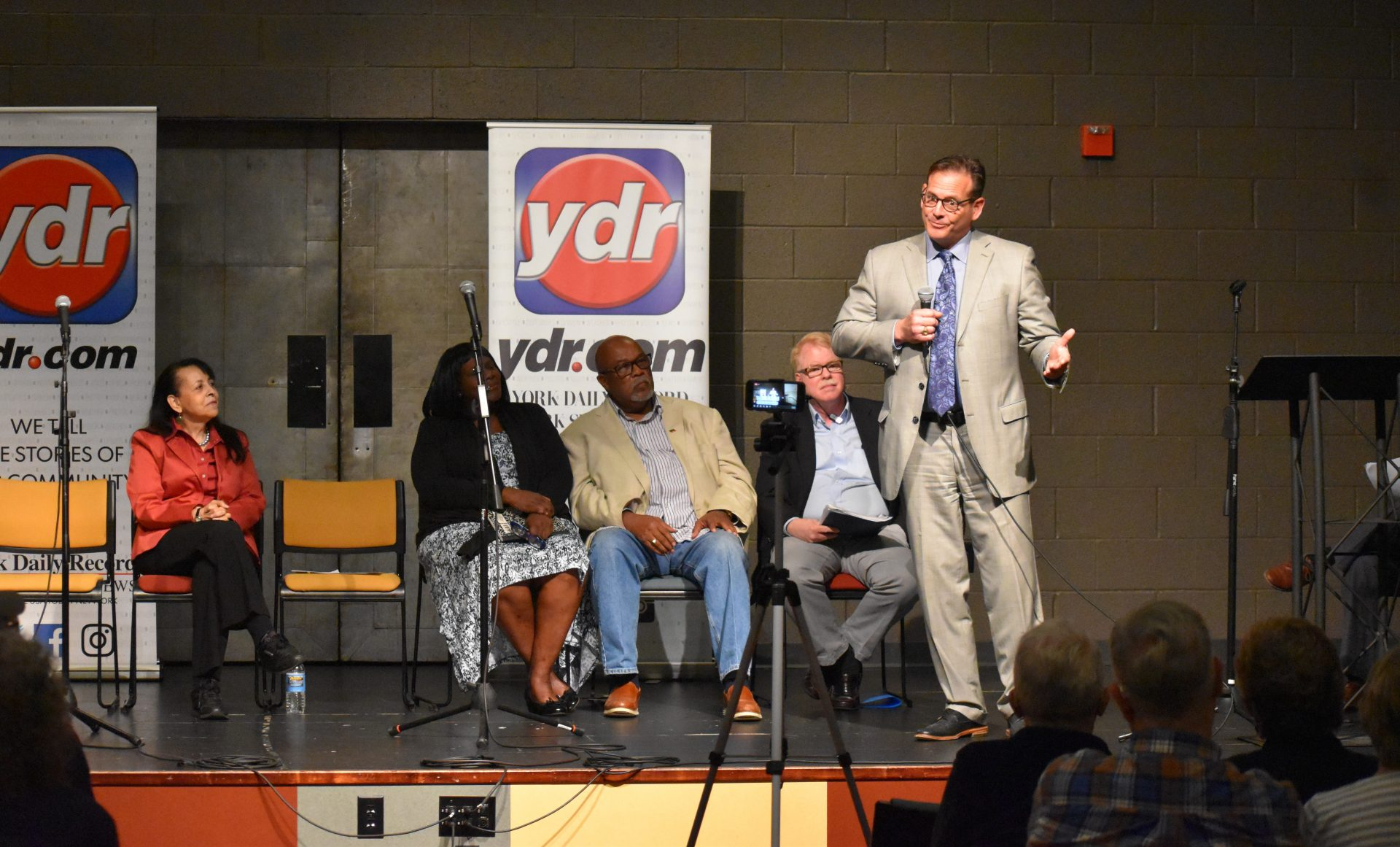 Tom Kelley speaks during a community event on April 23, 2019. Kelley was one of the prosecutors in the Lille Belle Allen murder case. He later became a York County judge before leaving the bench for private practice.