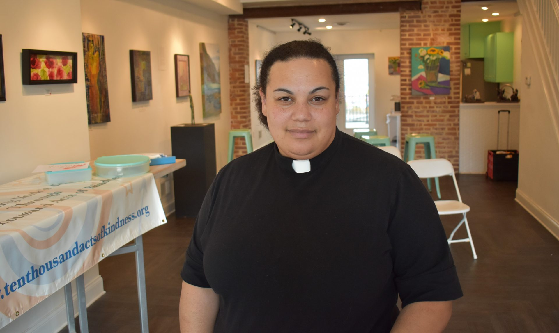 Carla Christopher, vicar at Union Lutheran Church, is seen on June 12, 2019, at The Parliament Arts Organization in York.