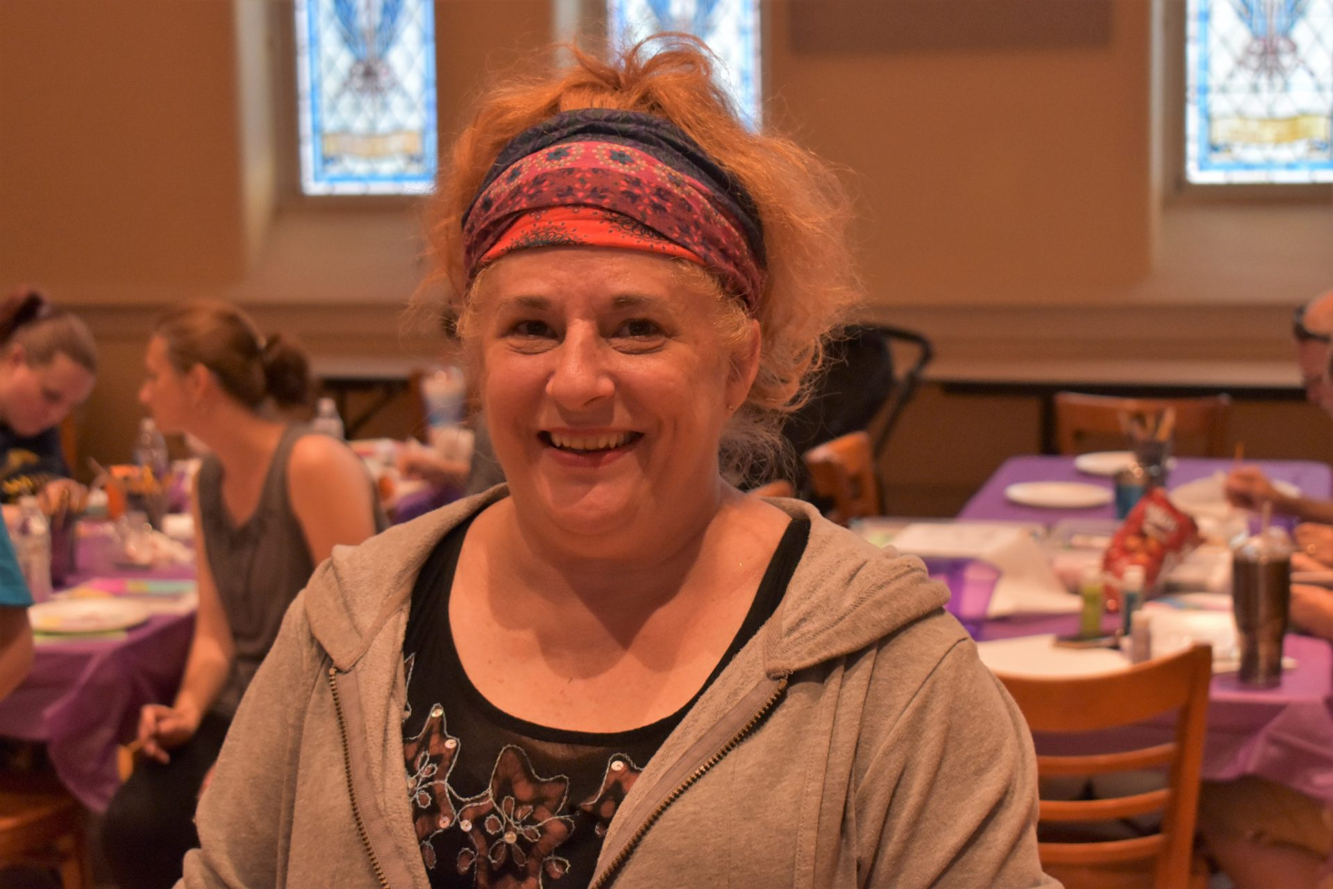 Amy Mummert is seen inside Union Lutheran Church in York on June 12, 2019.