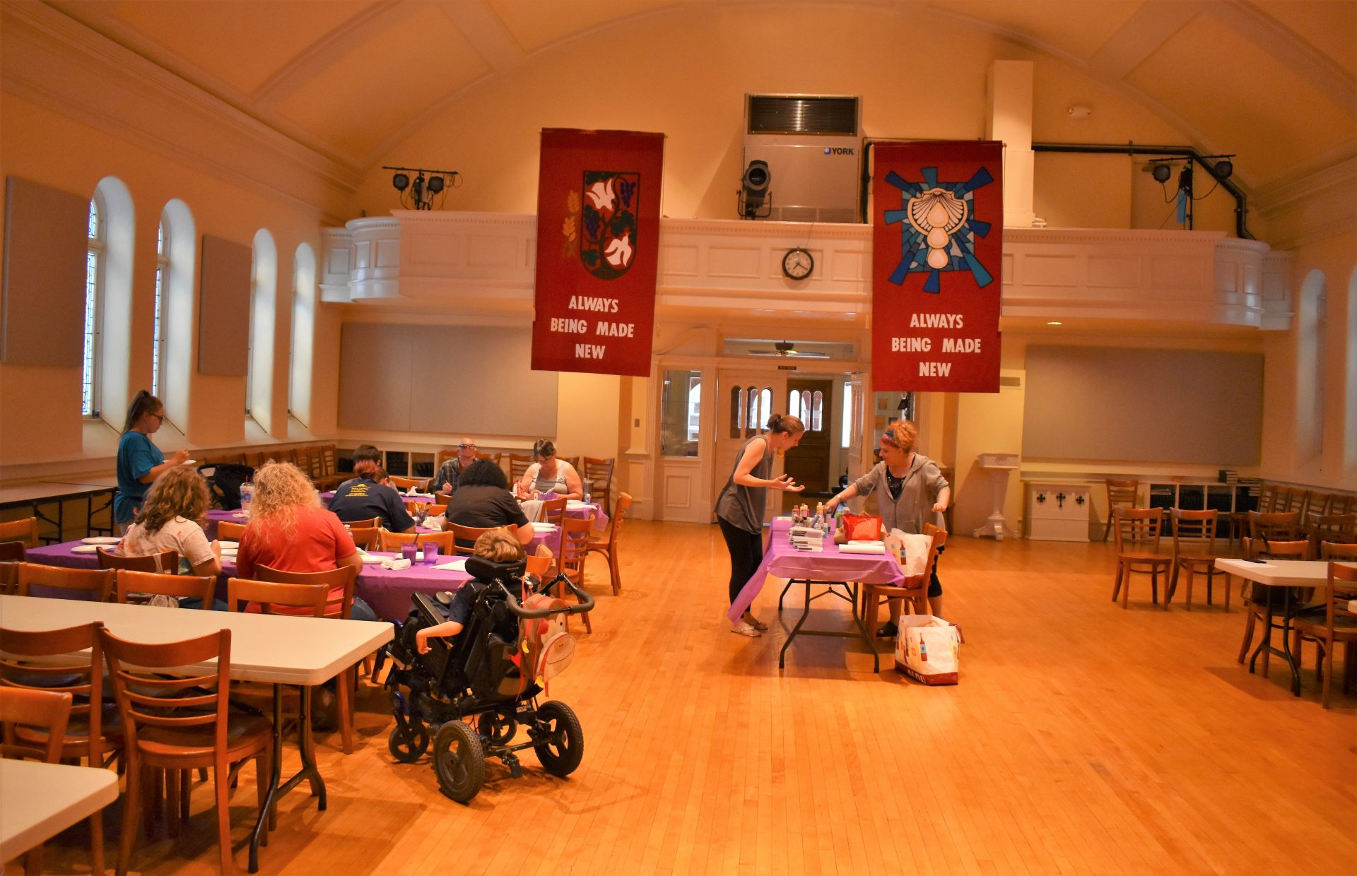 York community members work on art projects at Union Lutheran Church in York on June 12, 2019.