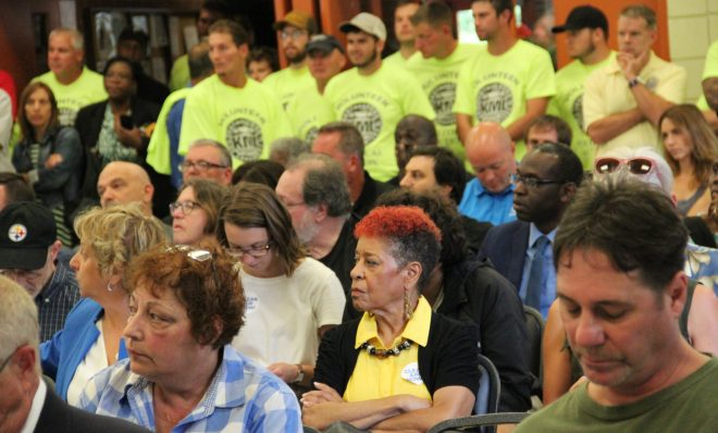 A hearing in Clairton, Pa. to discuss a settlement for air pollution violations at US Steel's Clairton Coke Works. Photo: Reid R. Frazier