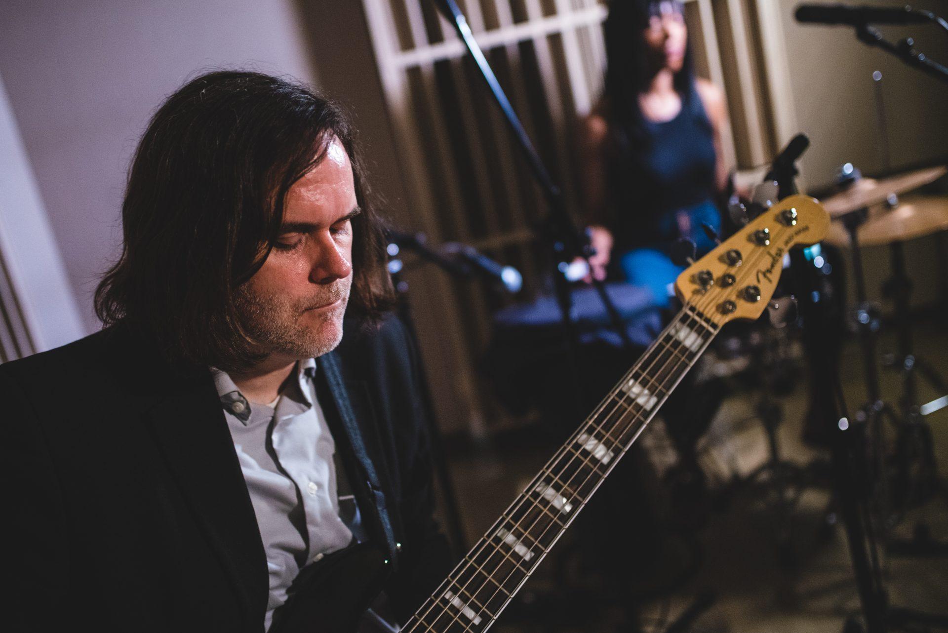 Bassist Jason Rafalak performing.