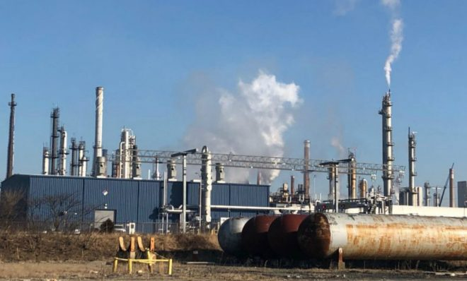 The Delaware City Refining Company will pay a $950,000 penalty for violations of the Clean Air Act dating to 2010. The settlement does not cover violations from a fire that broke out in February, releasing hydrogen sulfide and sulfur dioxide into the air.