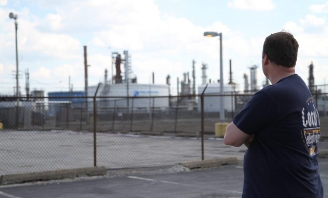 Ryan O'Callaghan is president of the United Steelworkers Local 10-1, which represents 640 union workers at Philadelphia Energy Solutions. The 150-year-old refinery is shutting down later this month after a fire destroyed one of its units.