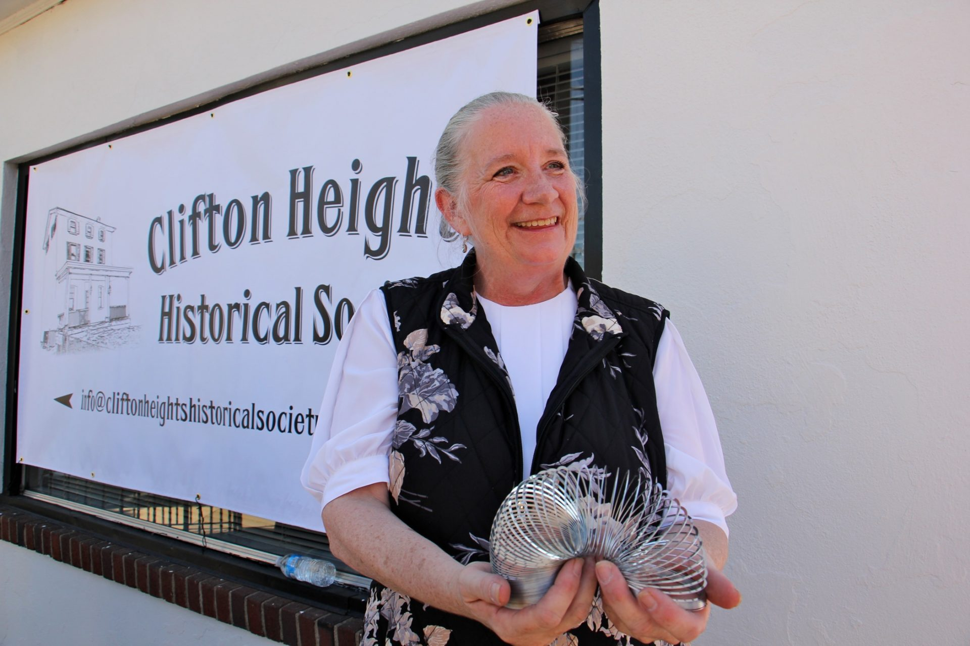 Historian Robyn Young successfully lobbied for a historical marker identifying Clifton Heights as a site where the Slinky was manufactured.