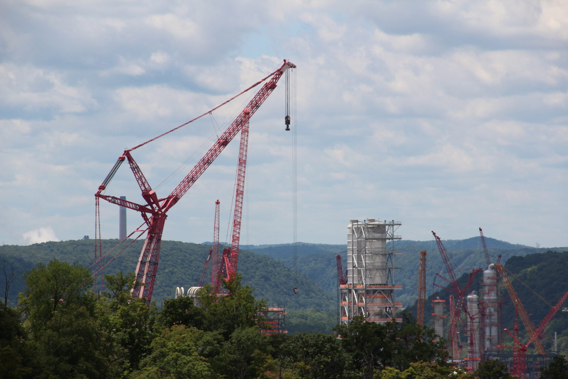 Shell's ethane cracker under construction in June, 2019 in Beaver County, Pa. Photo: Reid R. Frazier