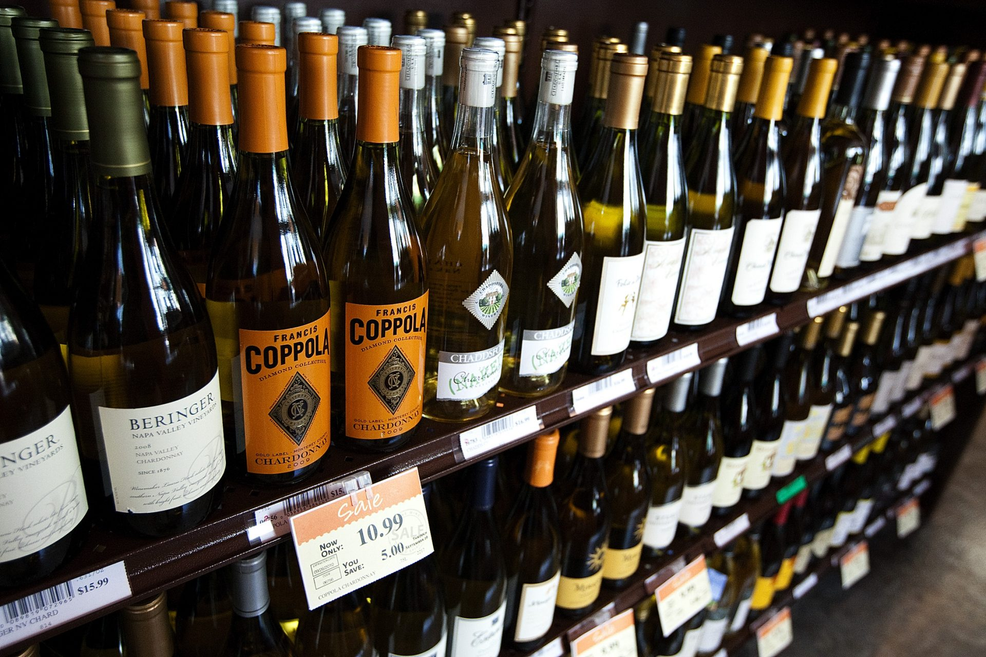 Bottles of wine are on display at the state-run wine and spirits store at 333 Market St. in Harrisburg.