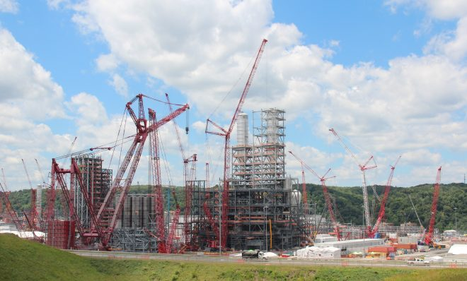 Shell's ethane cracker under construction in Beaver County, Pa.