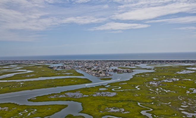 The marsh lands of Cape May County.
