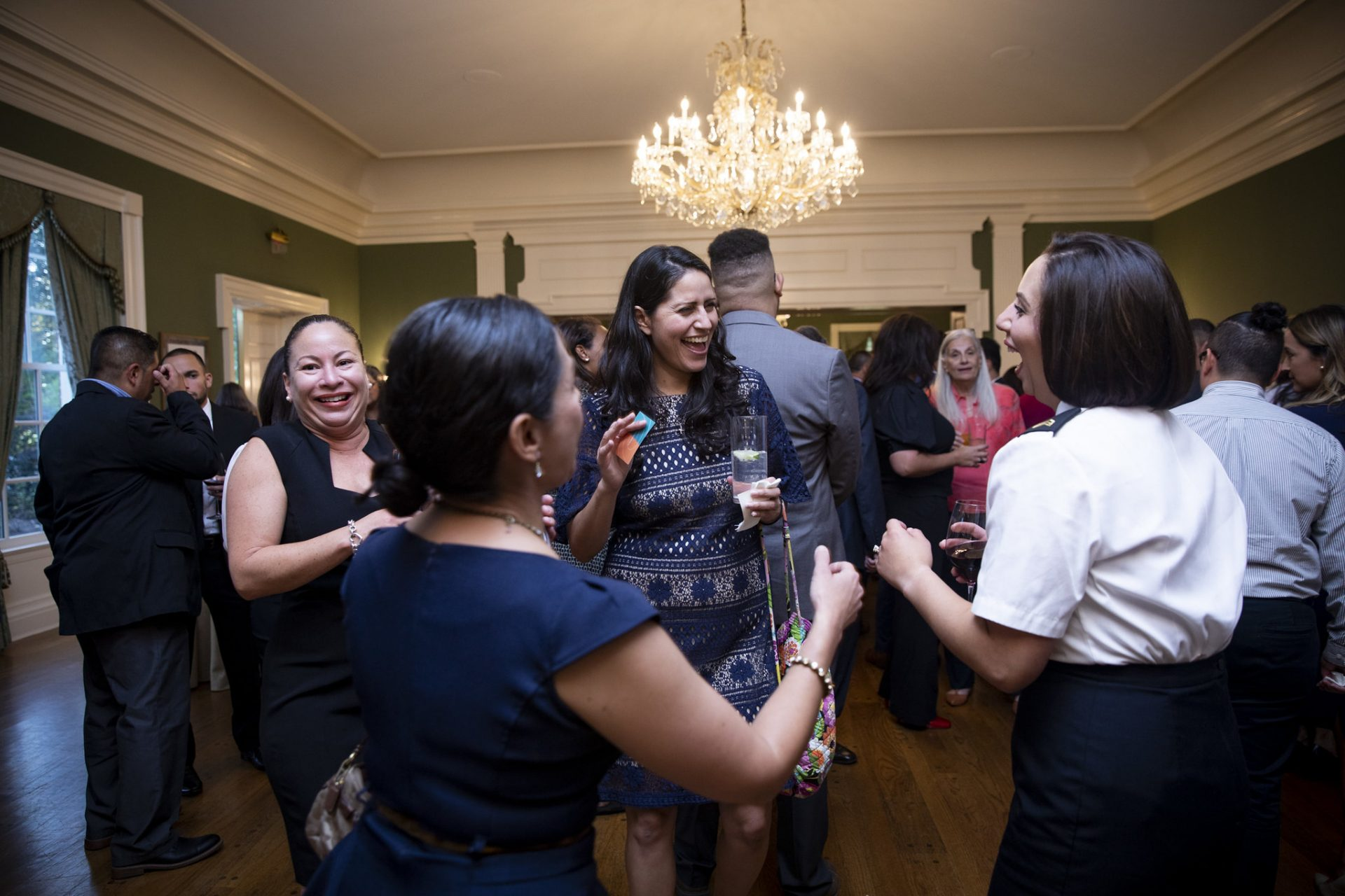 People celebrate Hispanic Heritage Month at the Governor's Residence in Harrisburg on Sept. 24, 2019.