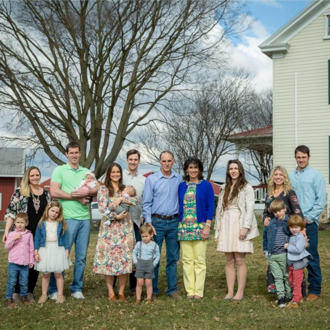 Brett Reinford, the fourth adult on the left, wearing the white shirt, is seen in this family picture for Reinford Farms.