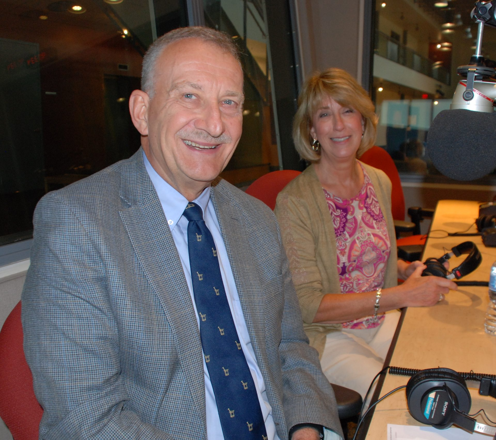 Chuck Kray pharmacist with Hershey Pharmacy and Patricia Epple, president and CEO of PA Pharmacists Association appear on Smart Talk September 5, 2019.