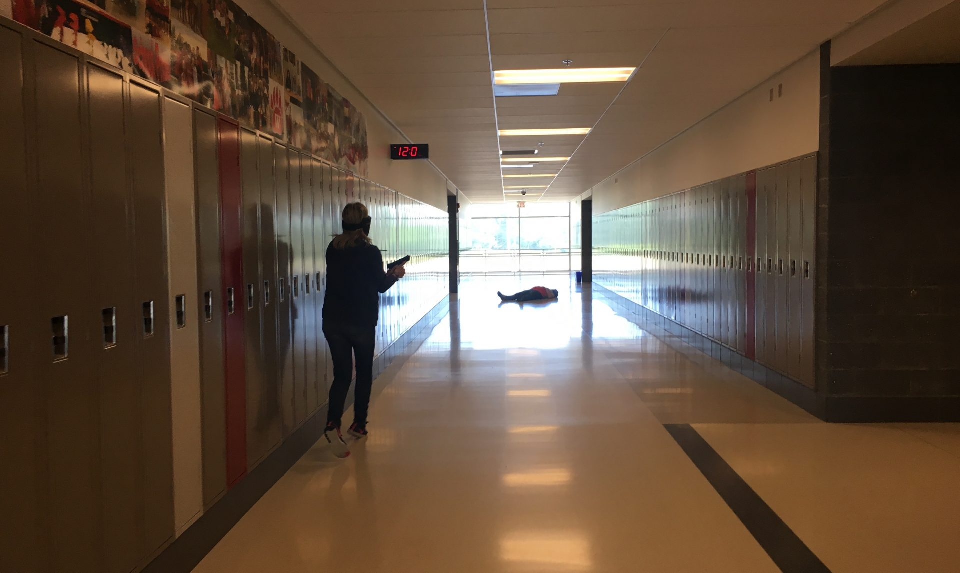 Ohio teachers participate in a school shooting simulation run by FASTER.