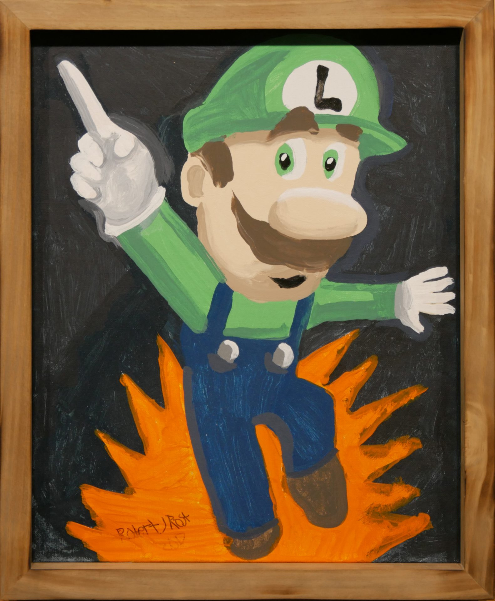 'And Luigi' by Robby Rost (acrylic on canvas)