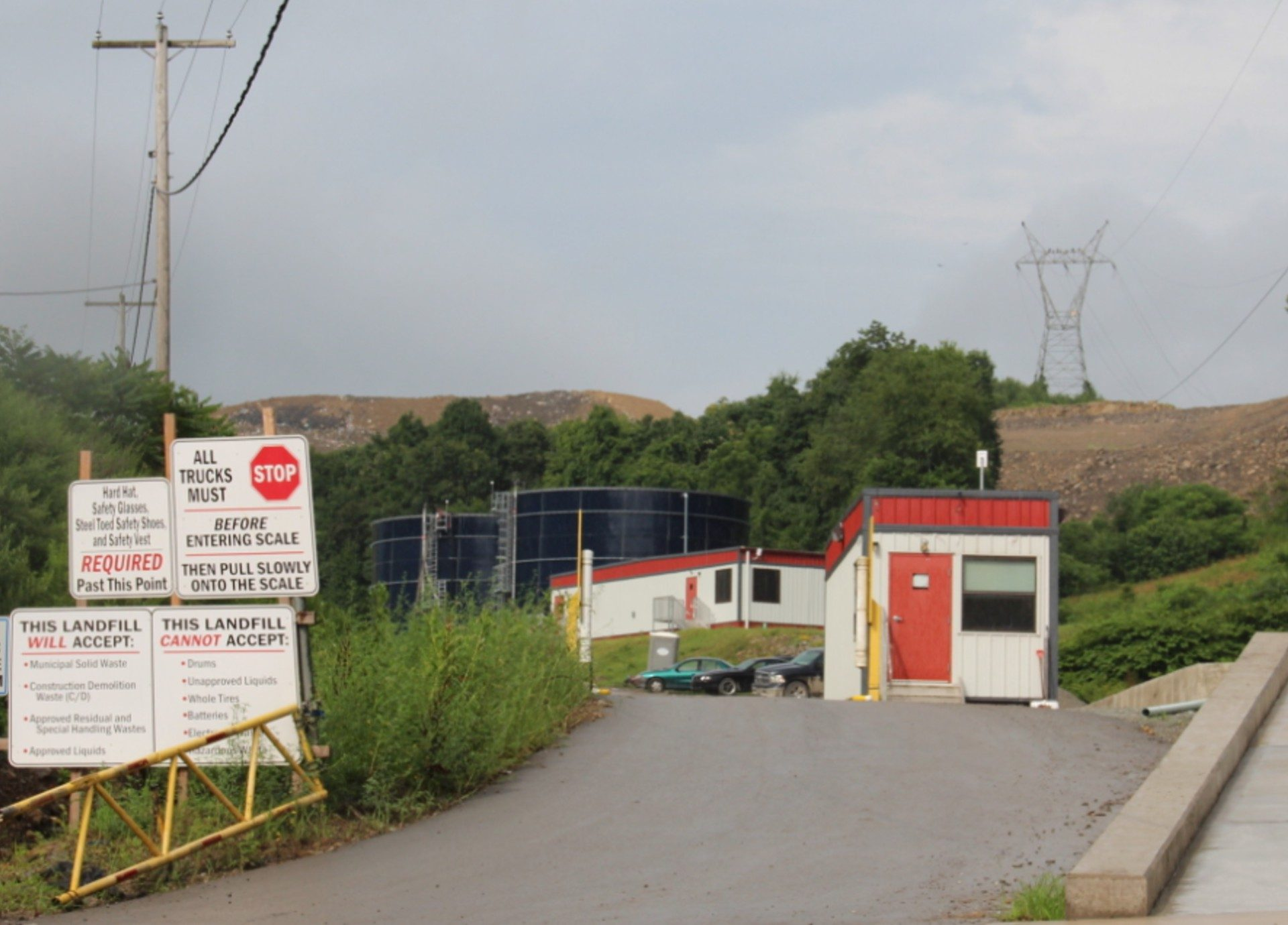 The entrance to the Westmoreland Sanitary Landfill in Rostraver, which accepts solid fracking waste and has sent what's called leachate -- liquid waste that comes out of the landfill when rainwater trickles through its piles of garbage -- to the Belle Vernon sewage treatment plant.