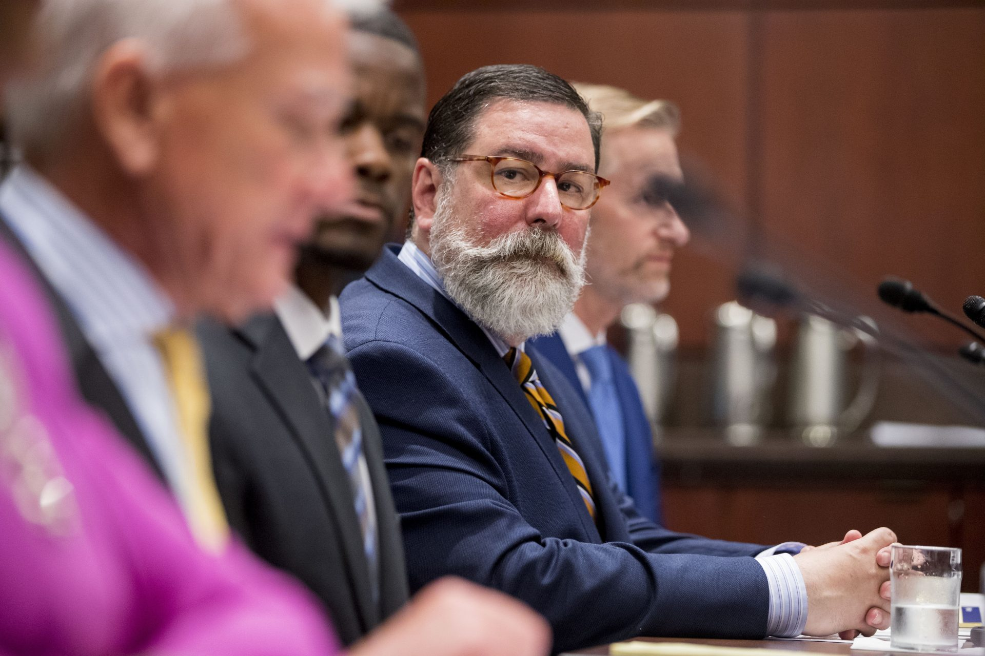 FILE PHOTO: Pittsburgh Mayor Bill Peduto appears before a Senate Democrats' Special Committee on the Climate Crisis on Capitol Hill in Washington, Wednesday, July 17, 2019.