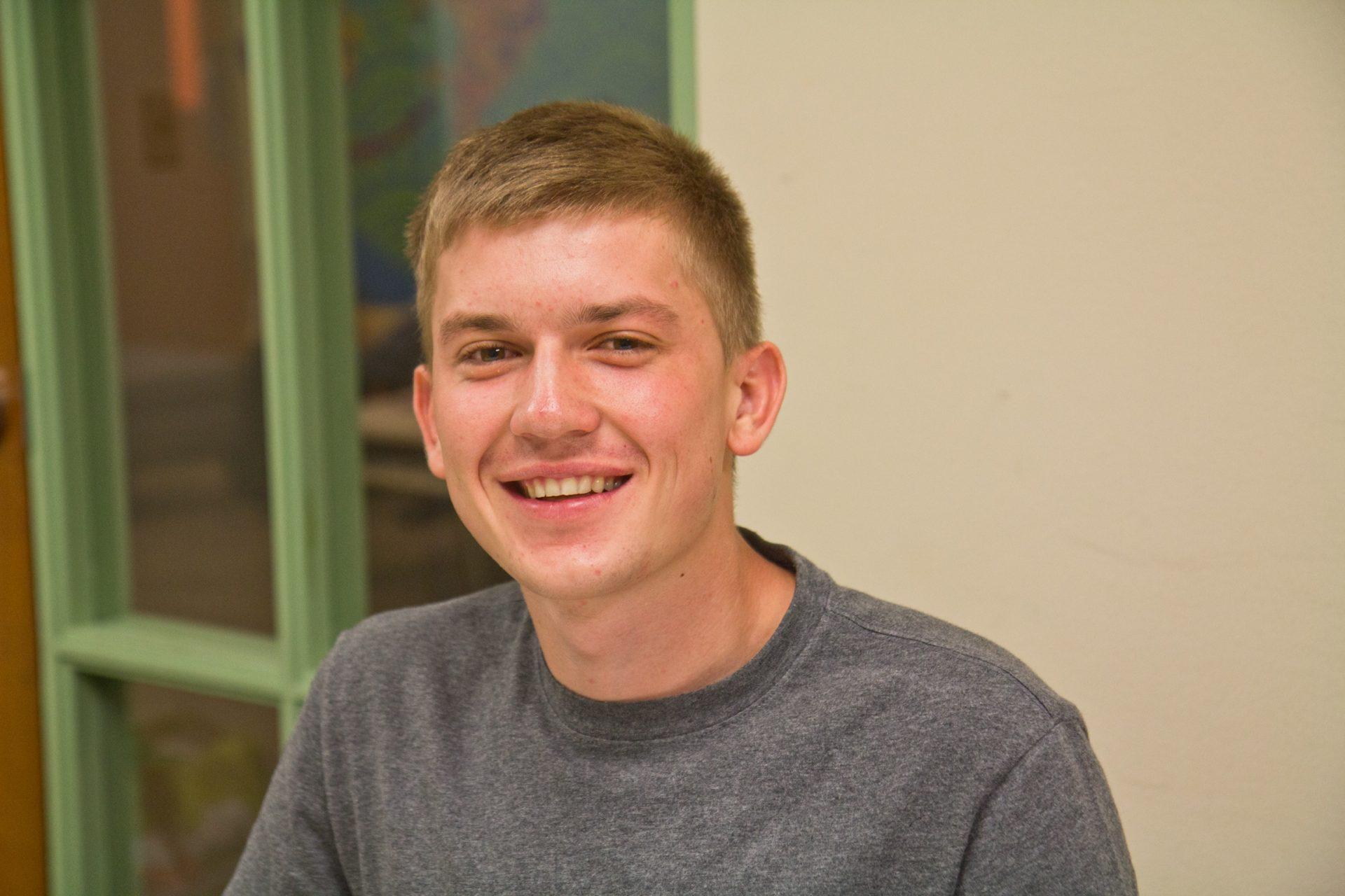 Krevskyi Bohdan, from Lutsk, Ukraine, is a refugee living in Bucks County.