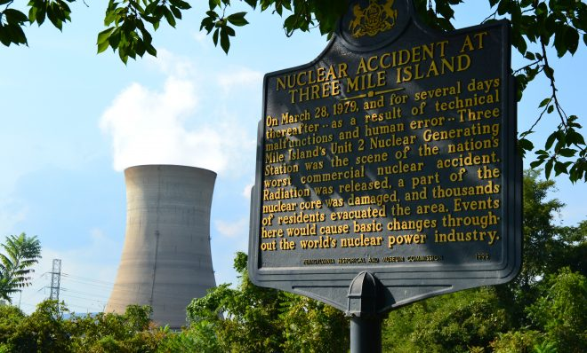 Three Mile Island nuclear power plant, which closed Sept. 20, 2019.