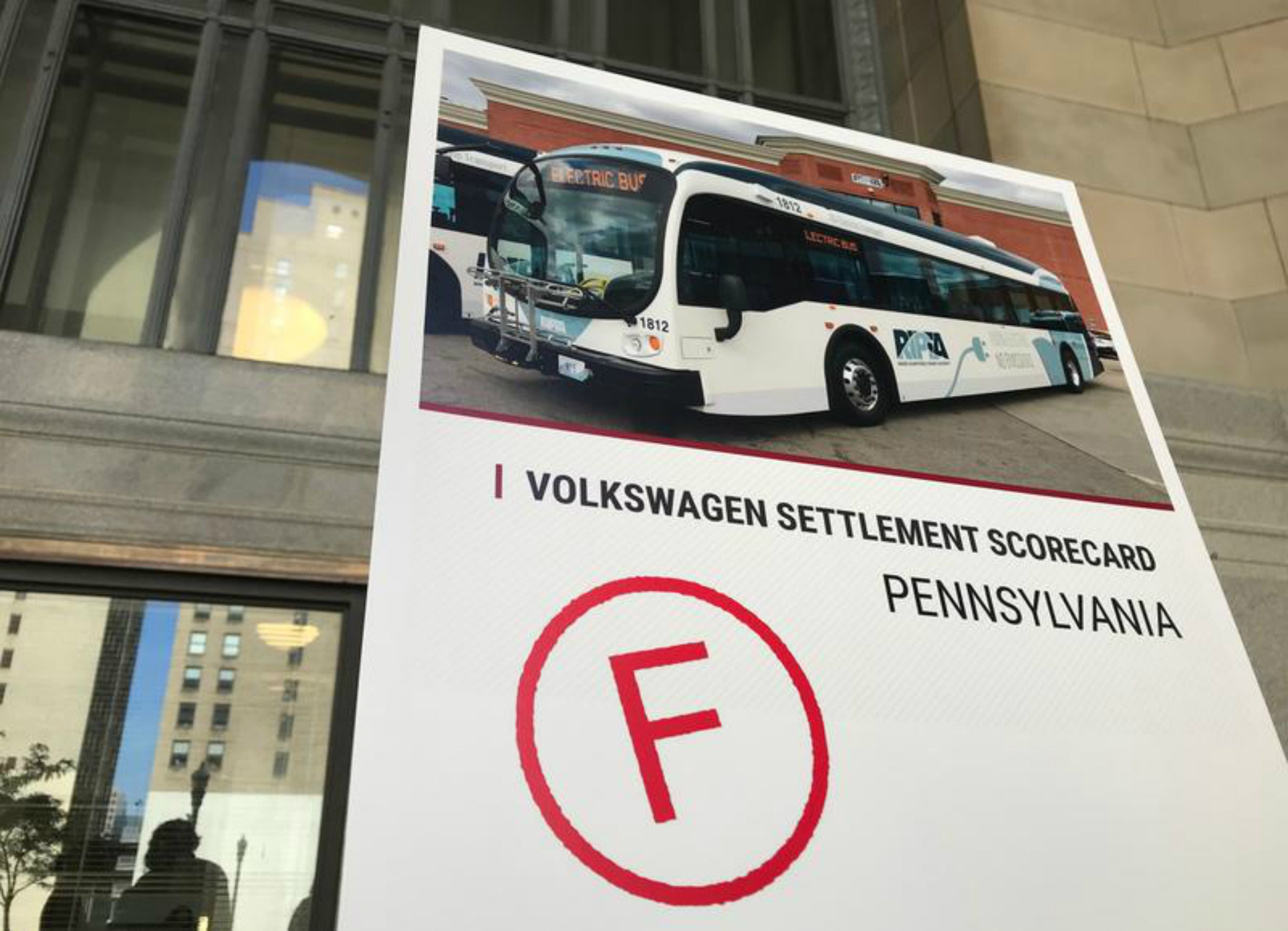 A new report from PennEnvironment Research and Policy Center and PennPIRG Education Fund fails Pennsylvania for its use of money from a 2017 federal settlement with Volkswagen over that company's emissions cheating.