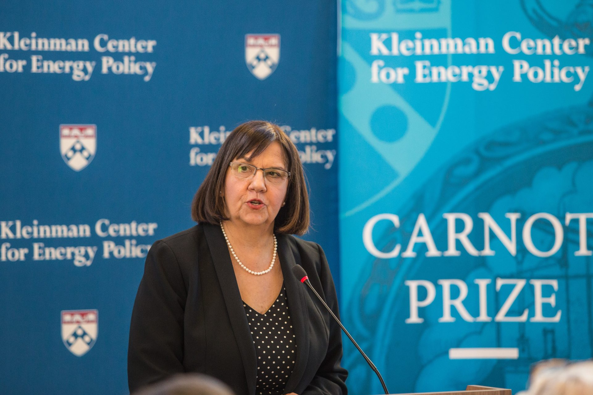 Cheryl LaFleur, former commission at the Federal Energy Regulatory Commission, received the Carnot Prize for distinguished contributions to energy policy from the Kleinman Center for Energy Policy at the University of Pennsylvania.
