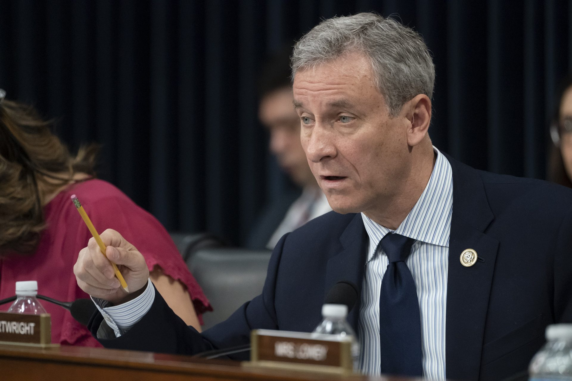 FILE PHOTO: Rep. Matt Cartwright, D-Penn., asks Attorney General William Barr about the Justice Department's lawsuit to strike down the Affordable Care Act, in Washington, Tuesday, April 9, 2019.
