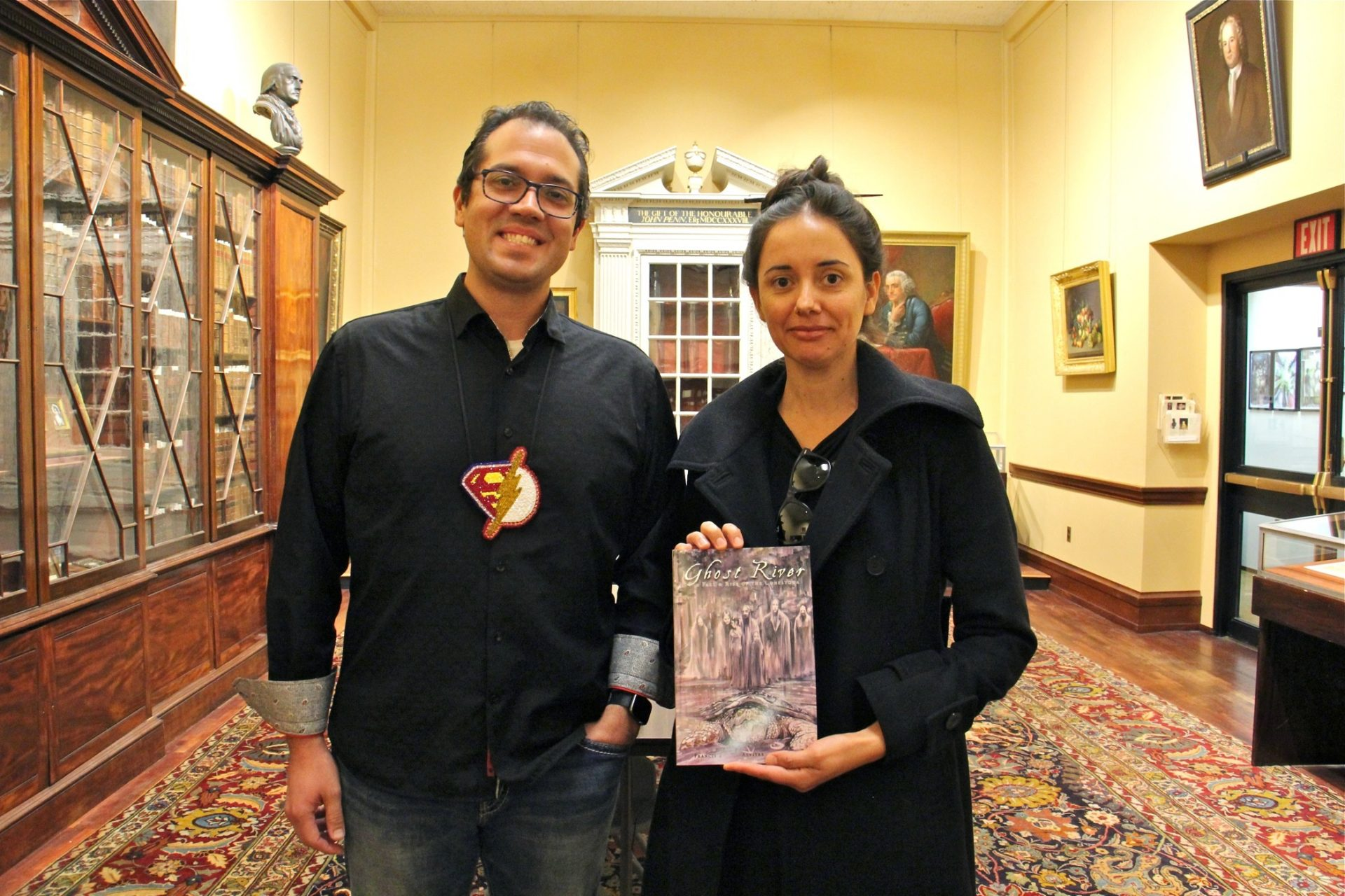"Writer Lee Francis 4 and artist Weshoyot Alvitre collaborated on ""Ghost River,"" a graphic novel about the massacre of Conestoga Native Americans at Lancaster in 1763. The Library Company of Philadelphia commissioned the work and provided research materials from its archives."