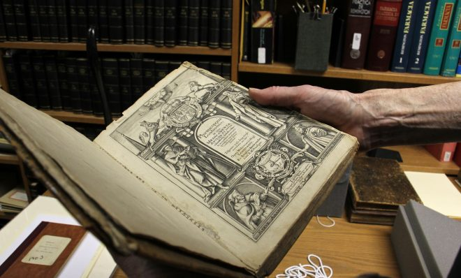 A rare first edition of the Pharmacopoeia Londinensis from 1618 is among the artifacts held by the University of the Sciences in Philadelphia.