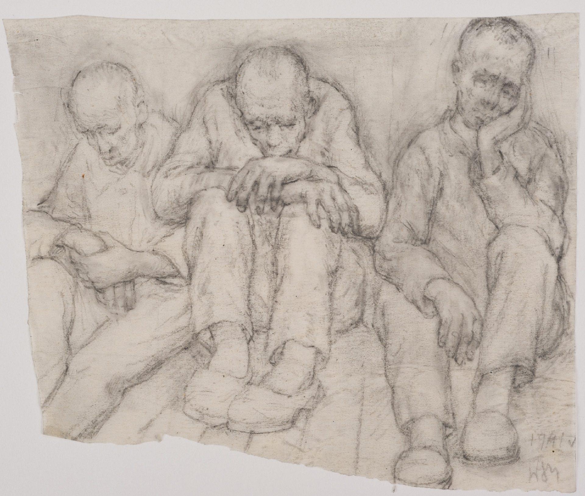 A Day Off, by Włodzimierz Siwierski, Auschwitz 1941