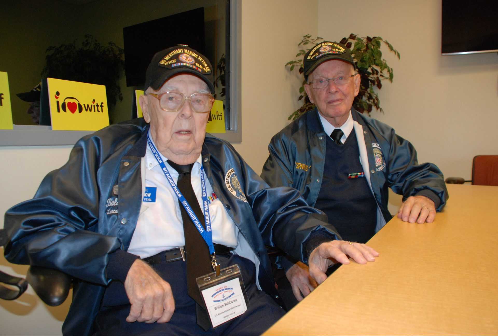Merchant Mariners Bill Balabanow and Bill Kelley