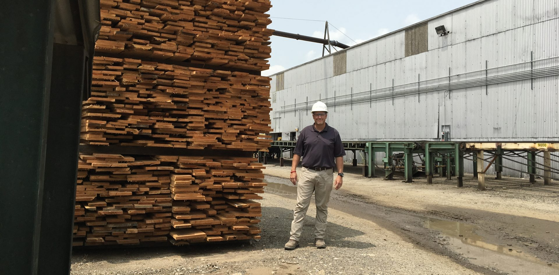 Bo Hammond is hardwood sales manager for Collins Hardwood, a company based in Oregon with locations in Pennsylvania, West Virginia and California. He and others in the industry say they're feeling the effects of the United States' trade war with China