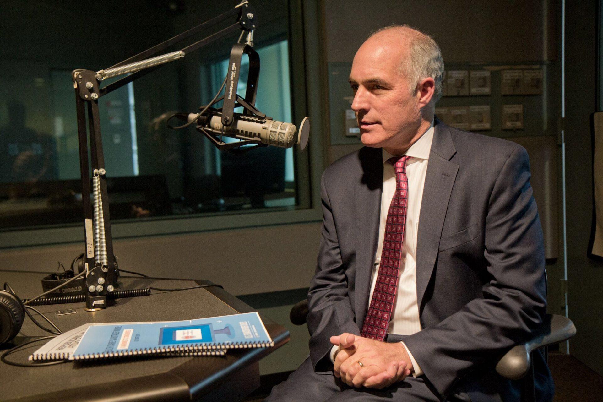 U.S. Senator Bob Casey at WHYY studios.