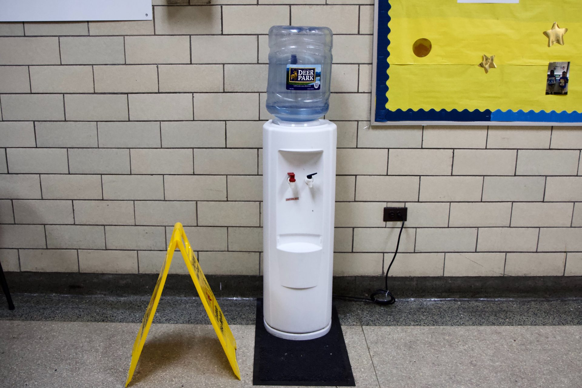 Students now drink from jugs of filtered water at Frederick Douglass Elementary.