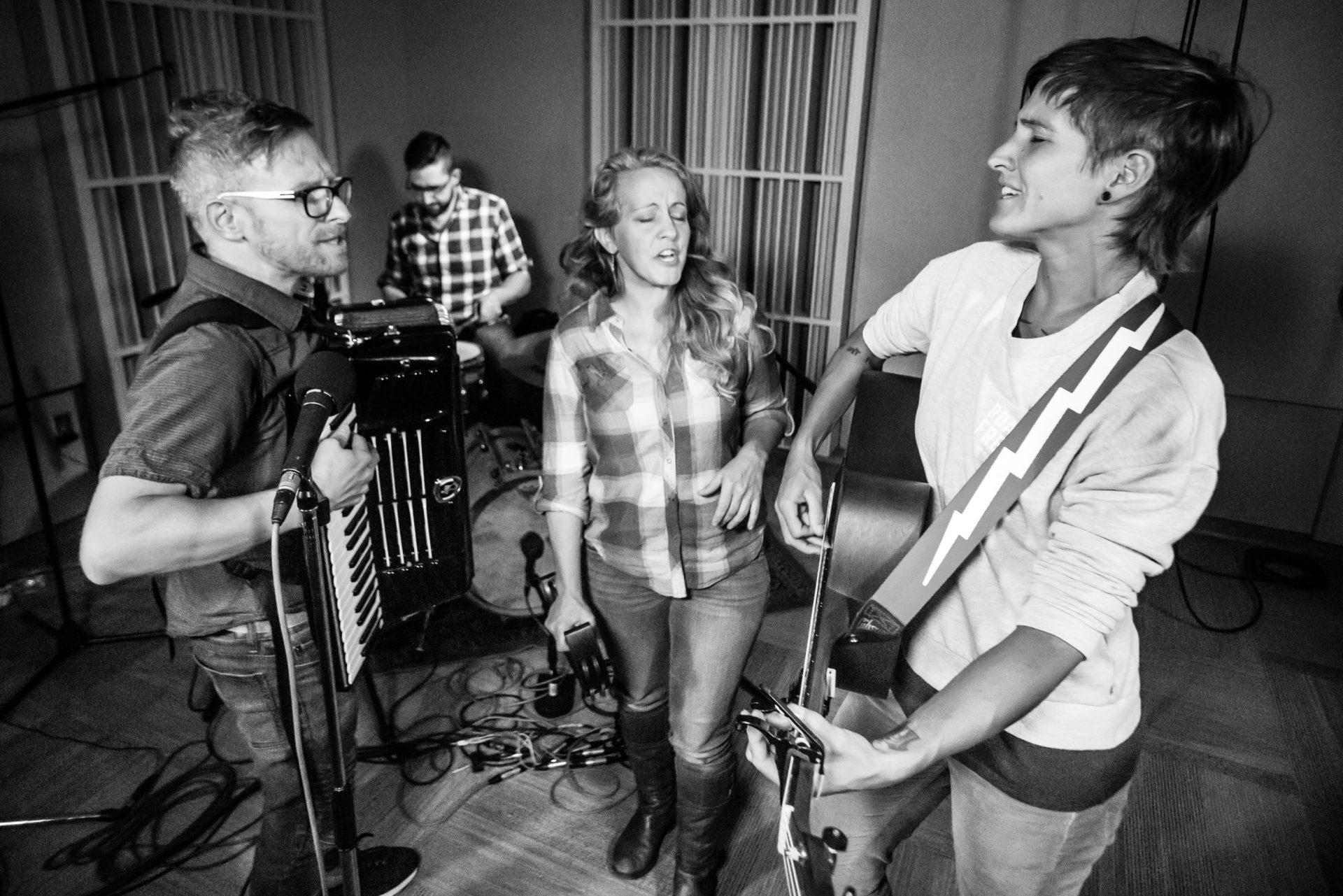 Jason, Kelly, Jenn and Sarah performing