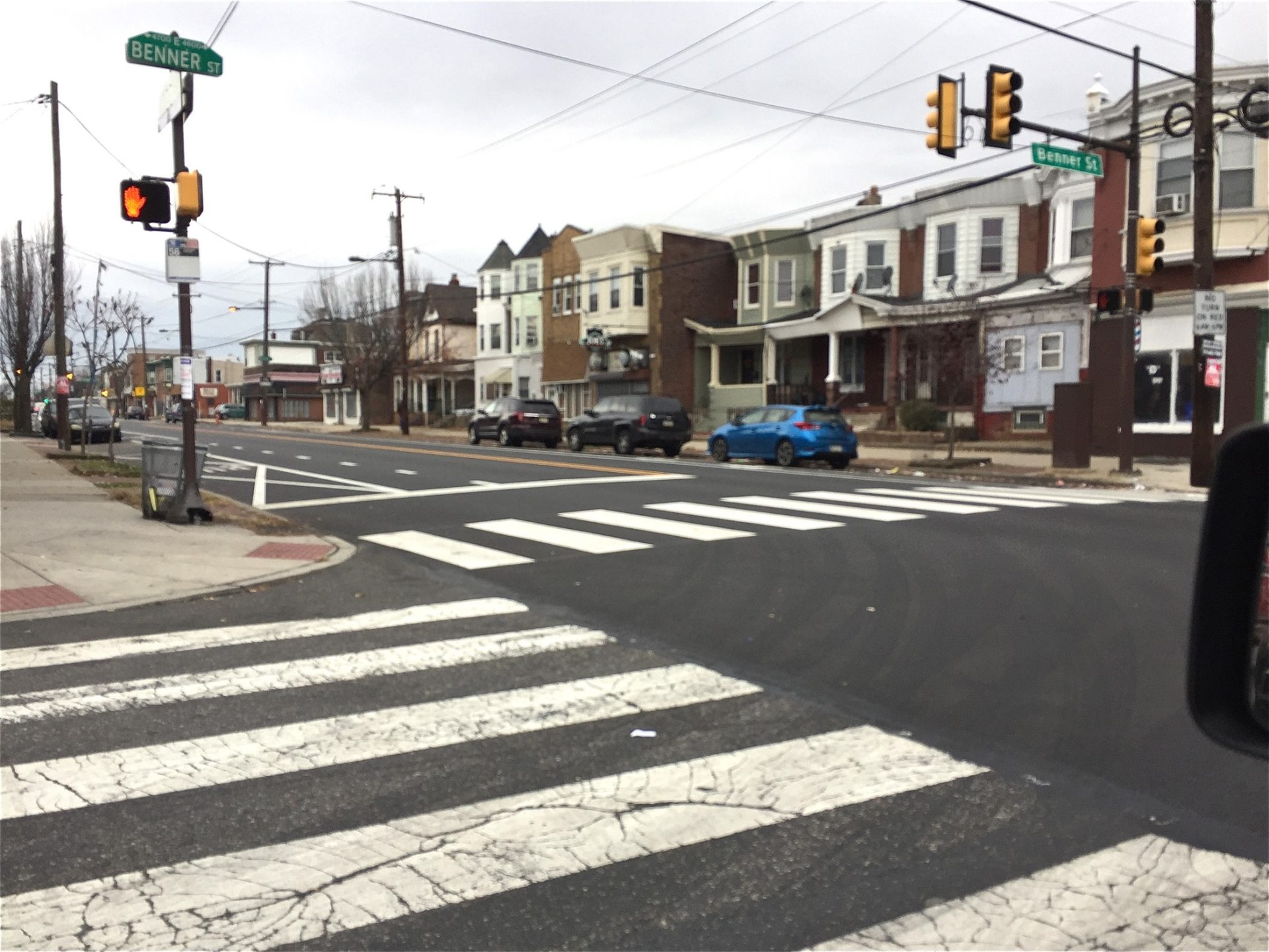 Olivia McCann, then 11, crossed this busy stretch of Torresdale Avenue alone after wandering from school in 2014.