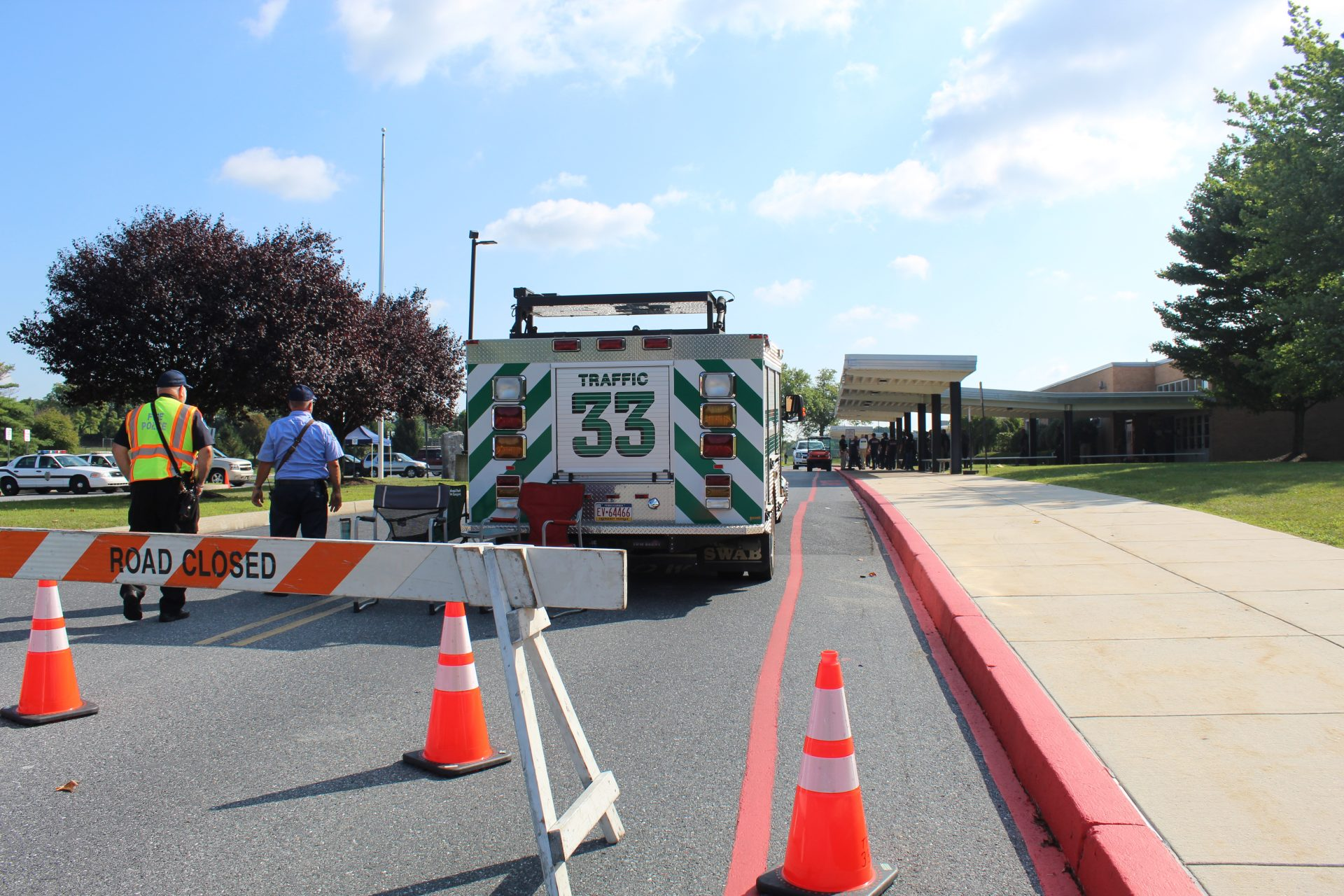 Area responders worked together at Central Dauphin East High School during an active shooter drill simulation.