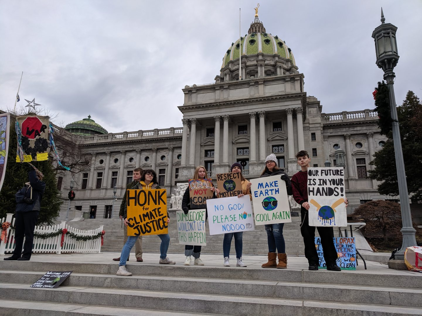 First climate strike by Harrisburg youth group draws small crowd | WITF