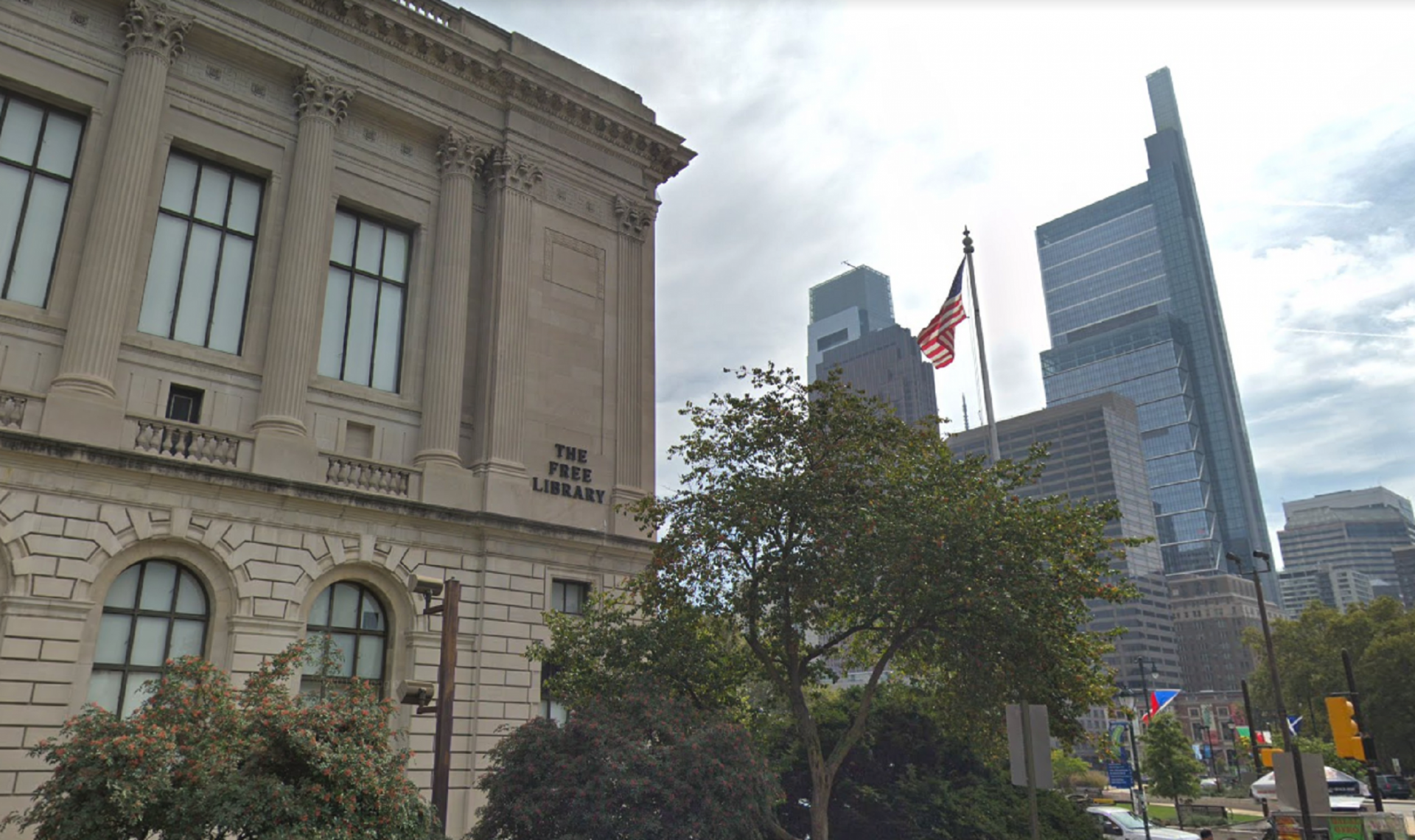 The Free Library of Philadelphia Parkway Central branch.