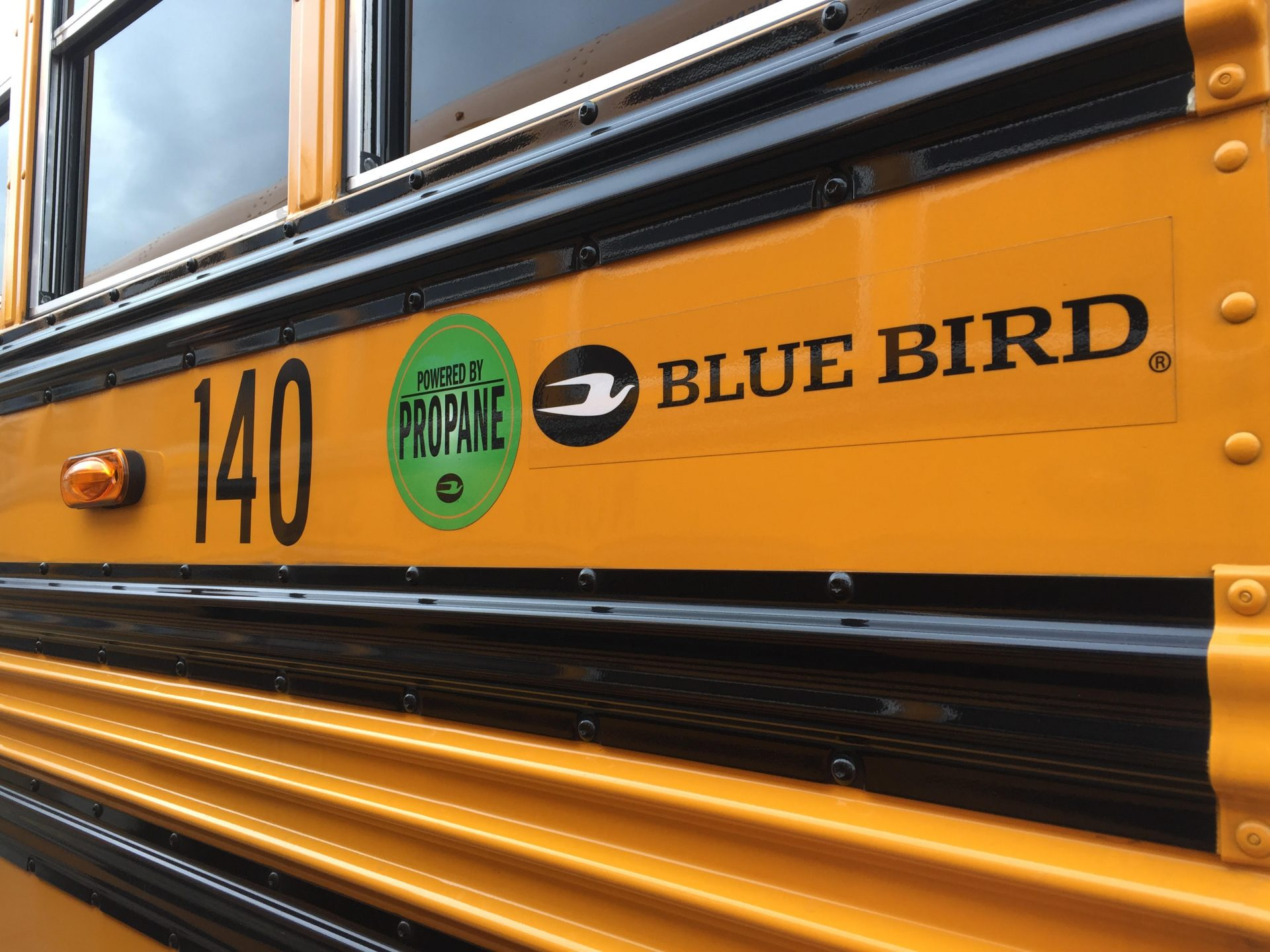 One of North Penn School District's new propane buses.