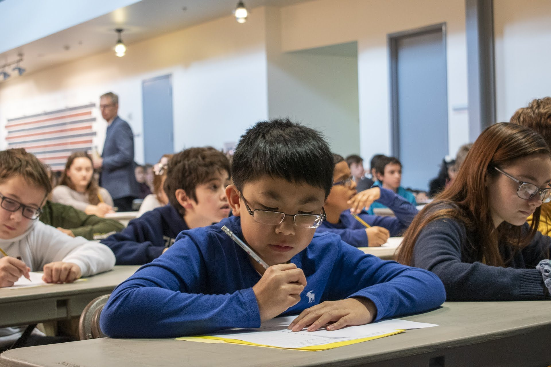 The written portion of WITF's Central PA Spelling Bee was held at WITF on January 19, 2020, and consisted of 50 spelling words and 50 vocabulary words.