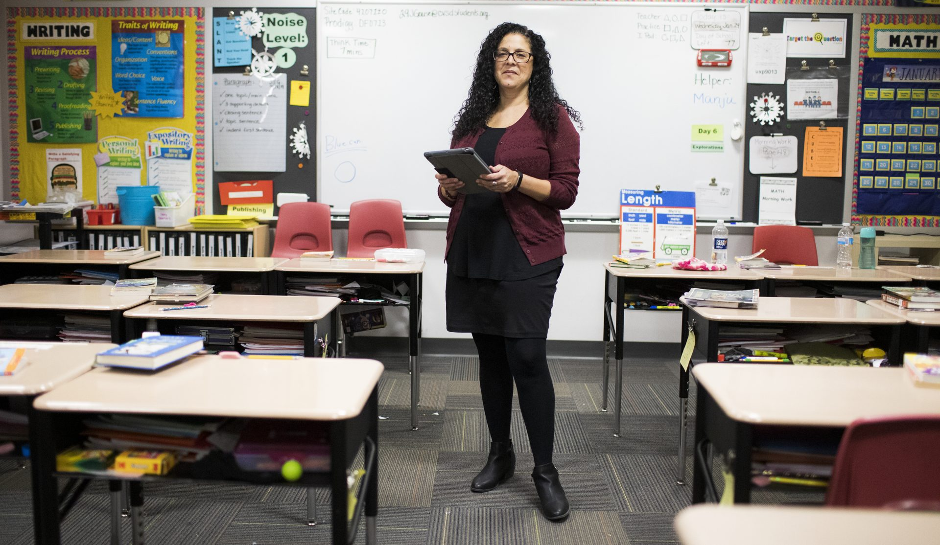 Jill Gouse is in her ninth year of teacher at Silver Spring Elementary School in the Cumberland Valley SchoolDistrict. She is one of only a few teachers of color. Jan. 28, 2020.