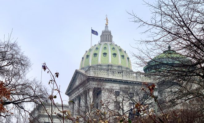 The Capitol in Harrisburg, Pa., on Wednesday, Jan. 15, 2020.