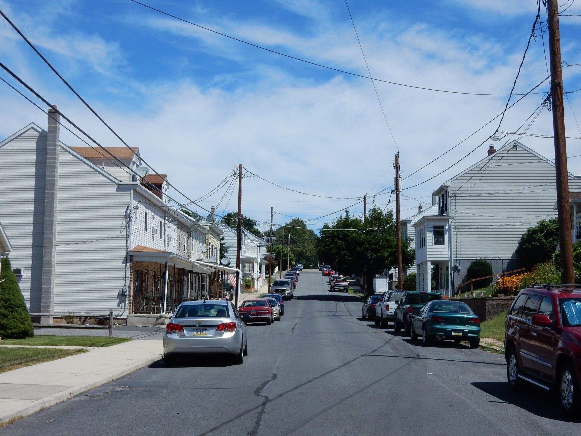 Main St., Seltzer, Norwegian Township, Schuylkill County, Pennsylvania. Looking west.