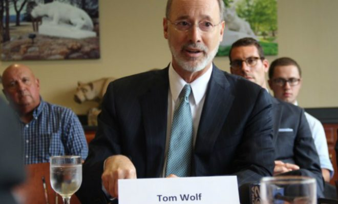 Gov. Tom Wolf hosted a roundtable discussion in Beaver County in 2016 to tout the benefits of the ethane cracker plant Shell is planning to build.
