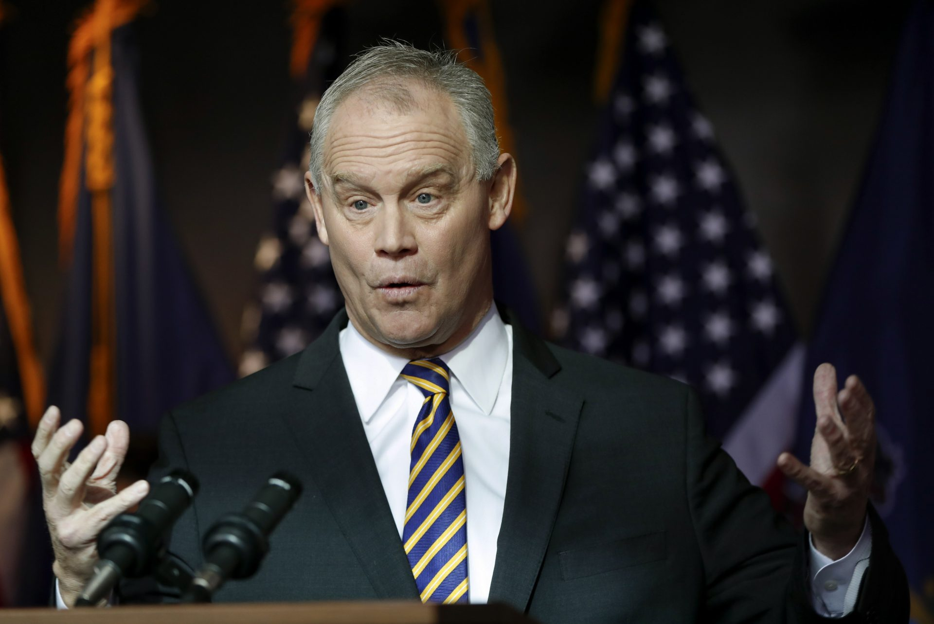 Pennsylvania Speaker of the House Mike Turzai announces at a news conference he will not run for another term as a Pennsylvania representative, Thursday, Jan. 23, 2020, in McCandless.