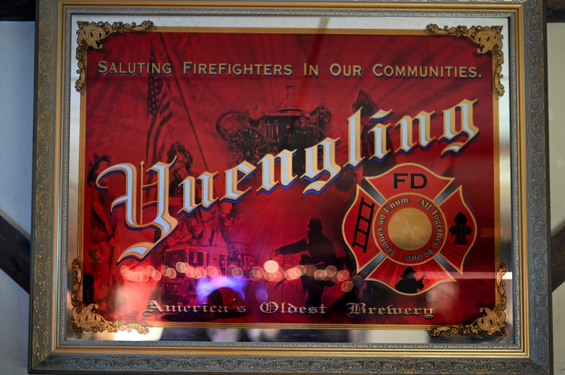 Interior details found at the Social Quarters of Deer Lake & West Brunswick Fire Company No. 1, in Orwigsburg, PA, on December 15, 2019.