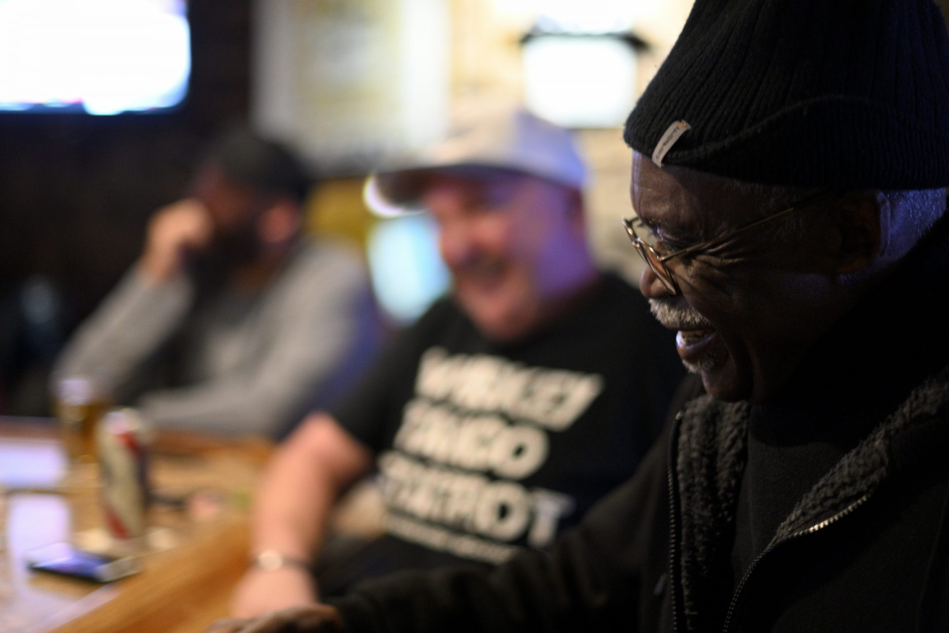 Ronald Stanley Webb, Andy and Stosh's dad, sits at the bar at Deer Lake & West Brunswick Fire Company No. 1, the first place he and his wife felt accepted as a couple in Schuylkill after marrying in the 1960s.
