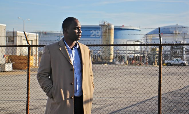 Bilal Motley worked at the Philadelphia Energy Solutions refinery for 13 years before an explosion and fire closed the plant.