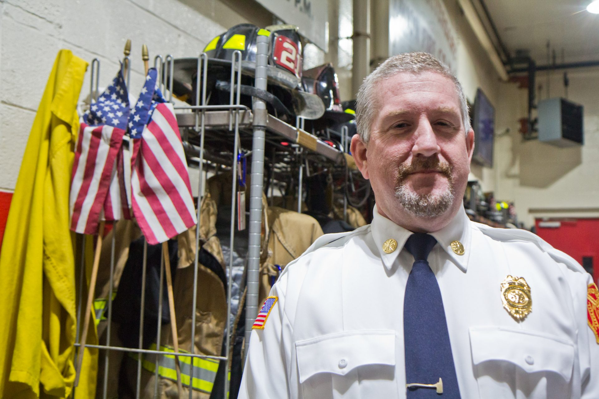 Shane Kinsey is the fire chief in Oxford, Pa.