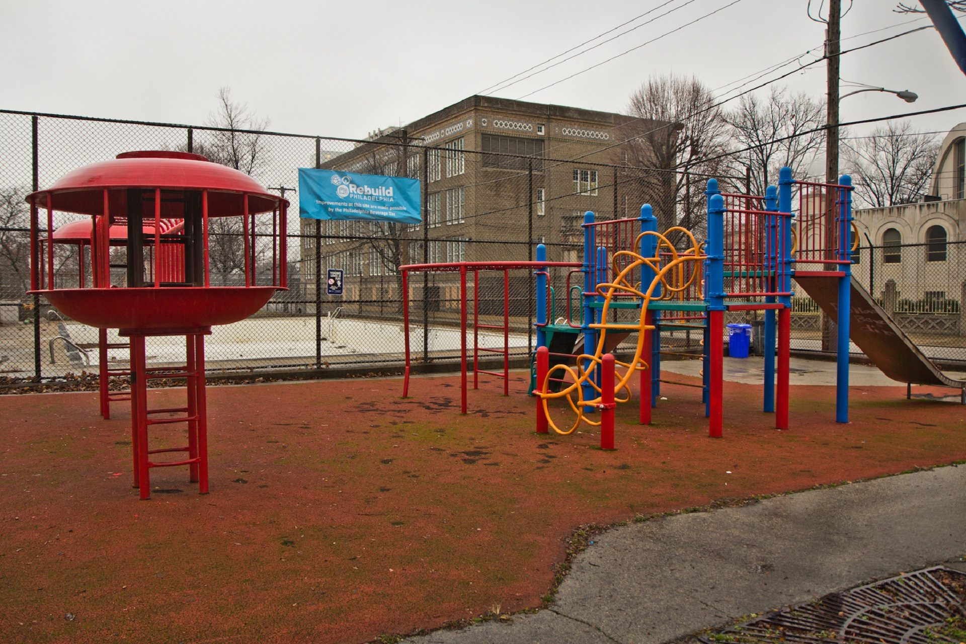 East Poplar playground in Northern Liberties a few months before renovations begin.